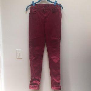 Maroon J-Brand Jeans